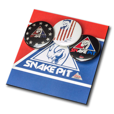 Snake Pit Round Button 3-Pack