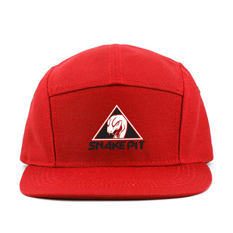 Snake Pit Racer Caps 5 Panel - Red