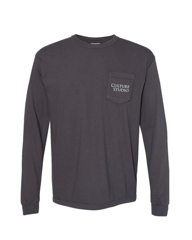Graphite Long Sleeve Pocket Tee - $10