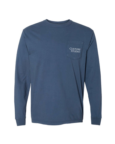 Midnight Long Sleeve Pocket Tee - $10