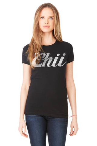 TRADEMARK LOGO CHII WOMENS TRI BLEND FASHION FIT TEE