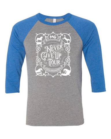 THG Raglan T-shirt Never Give Up