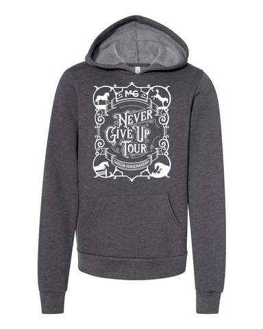THG Youth Sponge Fleece Pullover Hoodie Never Give Up