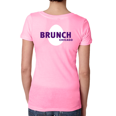 Brunch V Neck Tee- Neon Heather