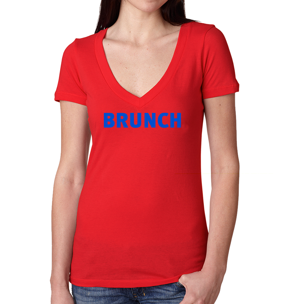 brunch-v-neck-tee-red_image