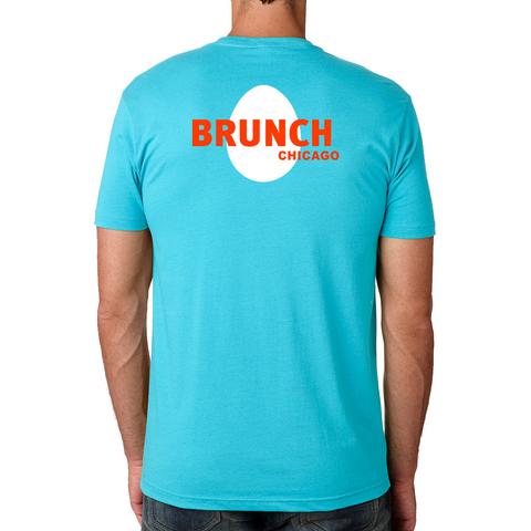 Brunch Crew Tee- Tahiti Blue