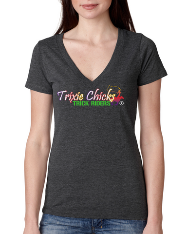 THG Deep V Triblend Tshirt Trixie Chicks