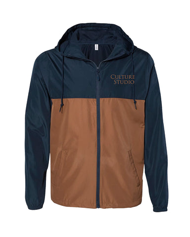Navy/Saddle Windbreaker Jacket - $25