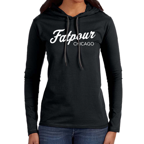 Fatpour womens Sweatshirt-Black