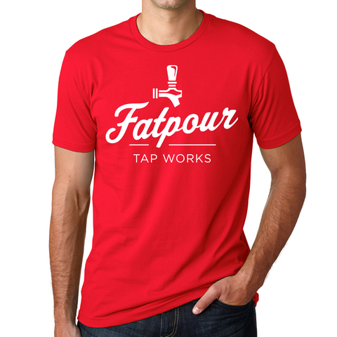 Fatpour Crew Tee-Red