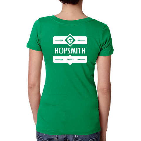 Hopsmith V Neck Tee-Kelly Green