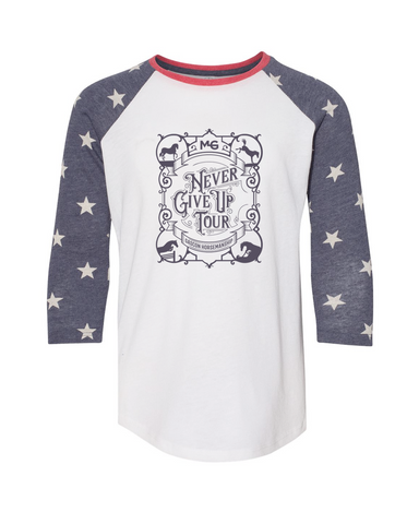 THG Never Give Up Youth Raglan