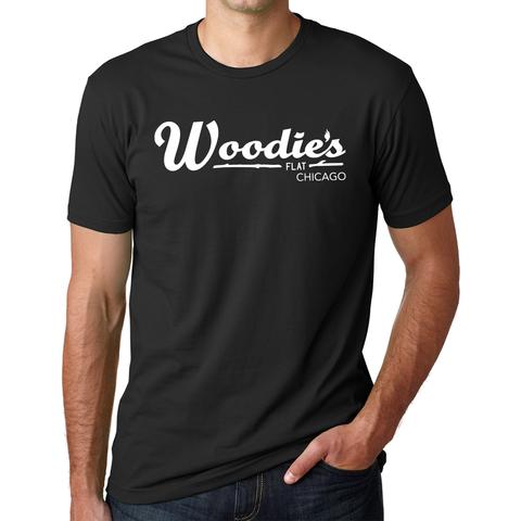 Woodies Crew Tee-Black