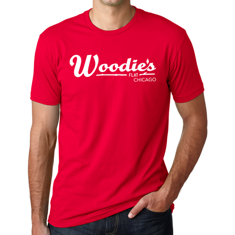 Woodies Crew Tee-Red