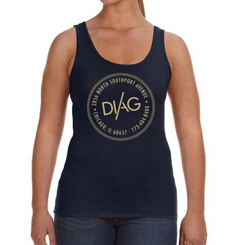 Diag Womens Tank-Midnight Navy