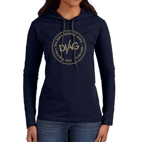 Diag womens Sweatshirt- Midnight Navy