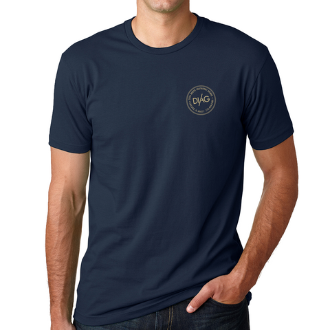 Diag Crew Tee- Midnight Navy