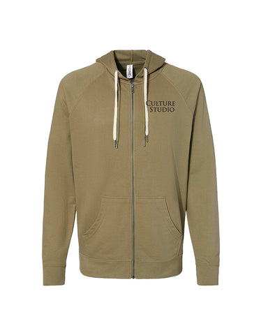 Olive Full Zip Sweatshirt - $18