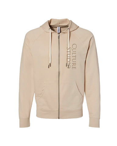 Sand Full Zip Sweatshirt - $18
