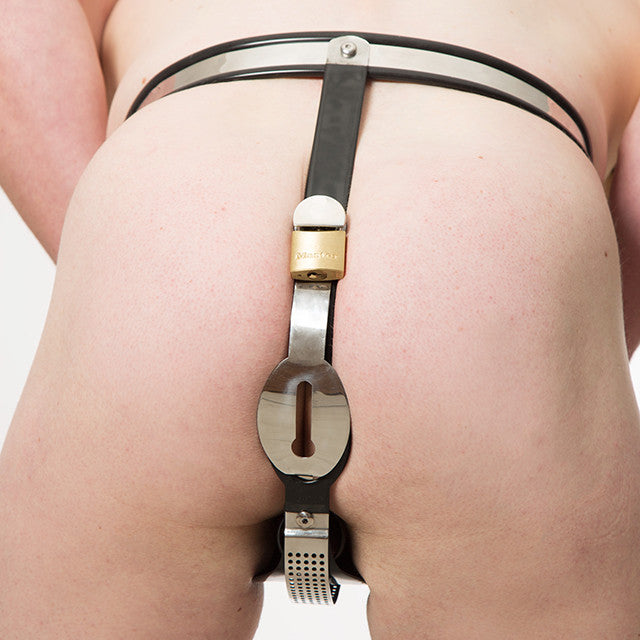 Men's Classic Chastity Belt (Full Rear Style)