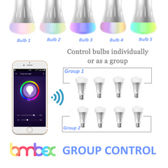Smart WiFi Multicolored 7W Bulb