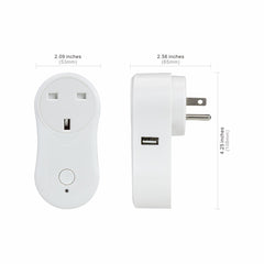 Lombex Wifi Smart Plug Work With Amazon Alexa  Intelligent Remote Control Timing Fuction, Free IOS / Android App