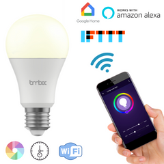 Lombex Wifi Smart Led Light Bulb Work With Alexa Home Automation Dimmable Night Light Bulb 60W Equivalent A19 RGBW Color Changing Mood Light IOS For Party Lights Or Decorative Ambient Light Bulb