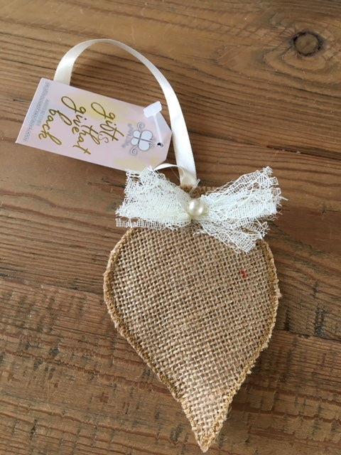 Burlap Embellished Ornament