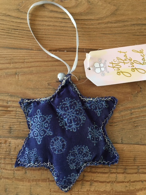 Fabric Blues Ornament