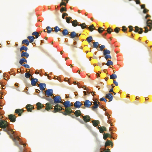 Mini-Bead Stretch Bracelet - 7 Colors Avail!