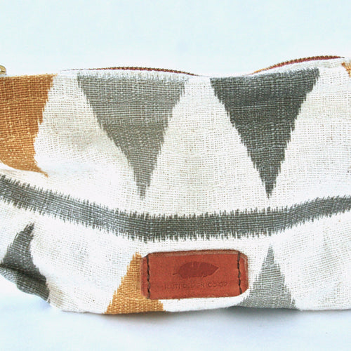 Leather Accented Cosmetic Bag - 2 Colors Avail!