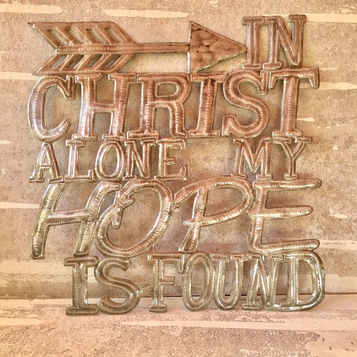 In Christ Alone - Metal Art