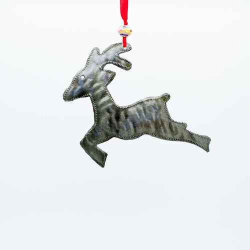 Reindeer Metal Ornament