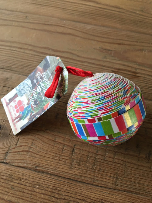 Recycled Sphere Ornament