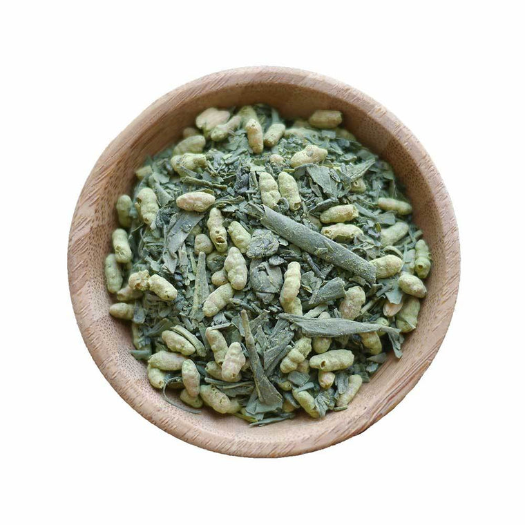 Premium Organic Loose Leaf Green Tea-Japan-Matcha Genmaicha
