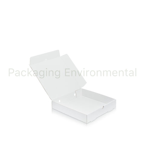 229 mm Pizza Box ohne Druck (Weib) | 100er-Packung | #PE1068
