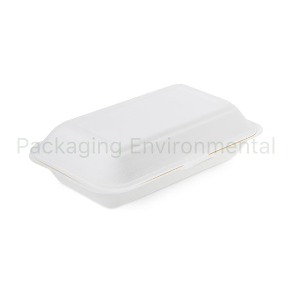 1050ml-Takeaway-Box aus Bagasse | #BX051