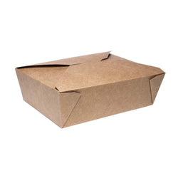 1900ml-Takeaway-Box aus Kraftpapier | #QBX3