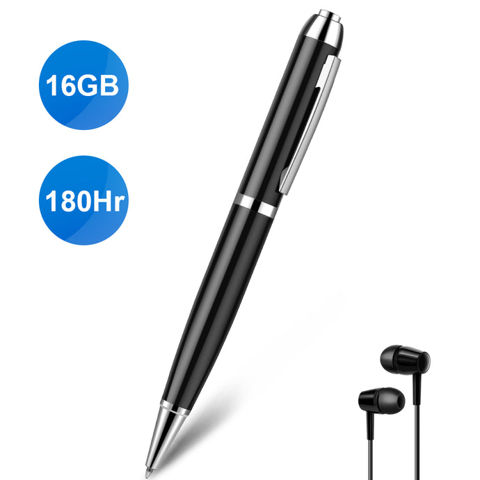 Digital Voice Recorder Pen, Hidden Audio Recorder Pen with Playback Rechargeable