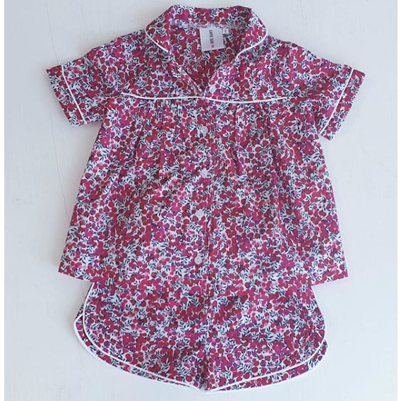 Liberty Summer Pj's Red Berry - Love Sam