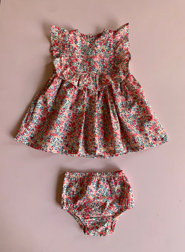 Liberty Wilshire Berry Dress and Diaper Cover set - Love Sam
