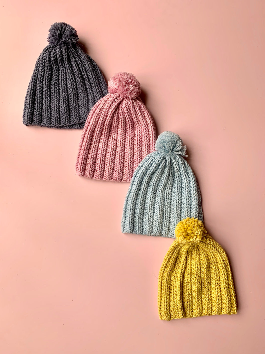 Pom Pom hats - Love Sam