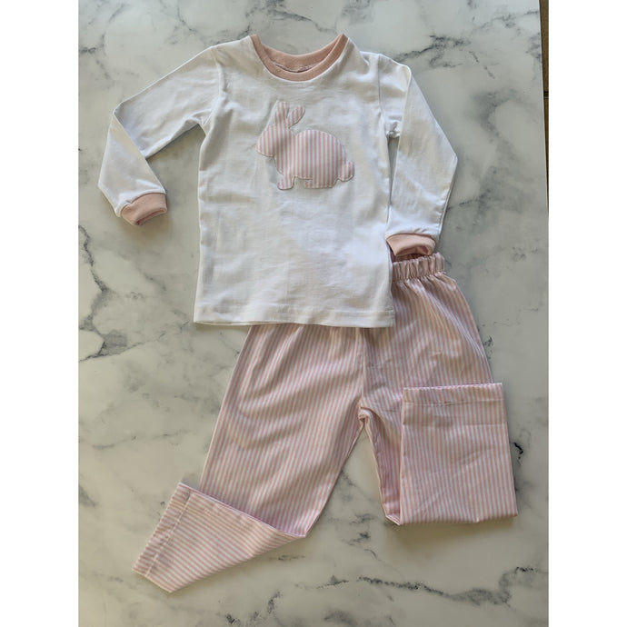 Bunny Pajamas Pink stripe - Love Sam