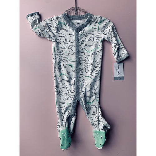 Carters dinosaur foot romper - Love Sam