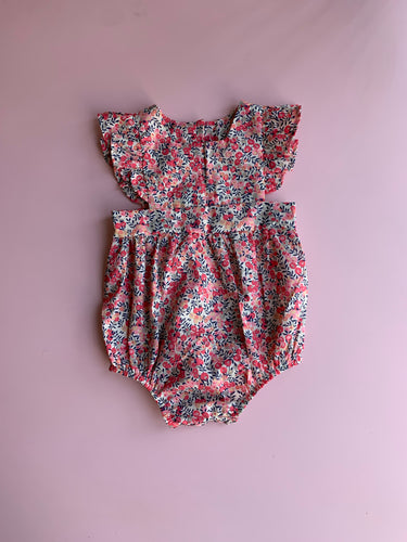 Liberty Wilshire Pinafore Romper - Love Sam