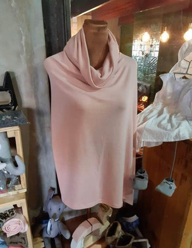 Ladies cowl neck poncho - Love Sam