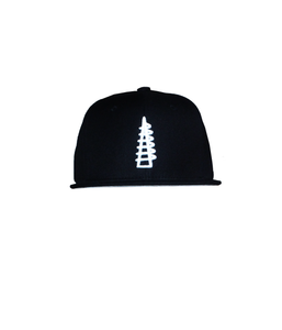 THINK WATTS Tower - Blk Snapback / White Stitching