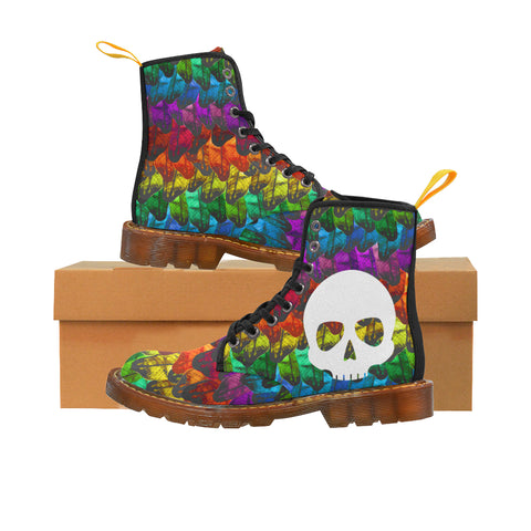Dr. Rainbow Death Women's Martin Boots