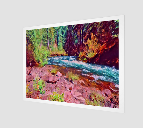 River and Red Rocks Print