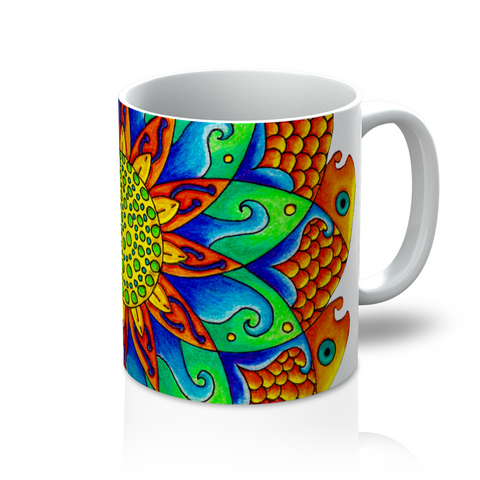 Fish Mandala Coffee Mug